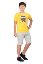 Genius Boys T-shirt With Bermuda Set,Yellow/Grey SIMGS20GBC072
