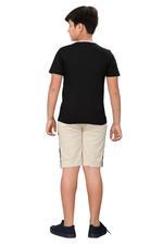 Genius Boys T-shirt With Bermuda Set,Black/Beige SIMGS20GBC076