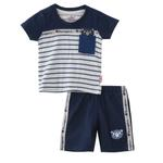Smart Baby Baby Boy T-Shirt With Bermuda Set, Navy - SNGS2035211