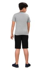 Genius Boys T-shirt With Bermuda Set,Grey/Black SIMGS20GBC080
