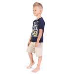 Genius Boys T-shirt With Bermuda Set, Navy/Beige-SIMG21422N