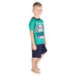 Genius Boys T-shirt With Bermuda Set, Green/Navy-SIMG21436G