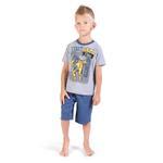 Genius Boys T-shirt With Bermuda Set, Grey/Blue-SIMG21439G