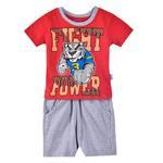 Genius Boys T-shirt With Bermuda Set, Red/Grey-SIMG21434R