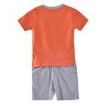 Genius Boys T-shirt With Bermuda Set, Rust/Grey-SIMG21425RUST