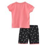 Smart Baby Baby Boy T-Shirt With Bermuda Set, Peach/Anthra Melange - SNGS2035029