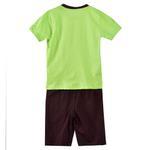 Genius Boys T-shirt With Bermuda Set, Lime/Coffee-SIMG21432L