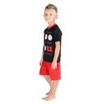 Genius Boys T-shirt With Bermuda Set, Black/Red-SIMG21423B