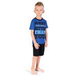 Genius Boys T-shirt With Bermuda Set, Royal Blue/Black-SIMG21424B