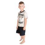 Genius Boys T-shirt With Bermuda Set, Beige/Black-SIMG21440B