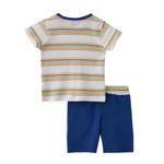 Smart Baby Baby Boy T-Shirt With Bermuda Set, White/Royal Blue - SNGS2035001