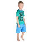 Genius Boys T-shirt With Bermuda Set, Green/Royal Blue-SIMG21431G