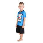 Genius Boys T-shirt With Bermuda Set, Blue/Black-SIMG21426B