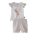 Smart Baby Baby Girl T-Shirt With Bloomer Set, White - SNGS2035221