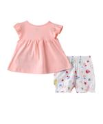 Smart Baby Baby Girls T-shirt With Bloomer Set , Pink/White - SNGS2035228