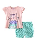 Smart Baby Baby Girl T-Shirt With Bloomer Set,Light Peach/Light Green-SNGSS2137579