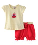 Smart Baby Baby Girls T-shirt With Bloomer Set , Light Yellow/Coral Pink - SNGSS2137483