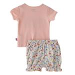 Smart Baby Baby Girl T-Shirt With Bloomer Set, Peach/White - SNGS2035223