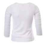 Zebra Crossing Girls School Uniform Full Sleevess Plain Blouse , White - VCG048