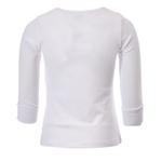 Zebra Crossing Girls School Uniform Full Sleevess Plain Blouse , White - VCG049