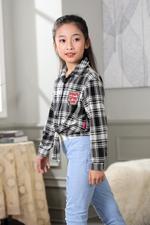 Nexgen Girls Girl Blouse,Black,GEGSS2020263