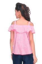 Pink Panther Girls Woven Blouse, Pink-HWGLPP37