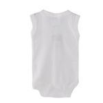 Smart Baby Organic Cotton Unisex Front Button Closure Bodysuit , White - TIGBS6OCW/NB