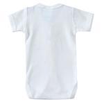 Smart Baby Organic Cotton Unisex Front Button Closure Bodysuit , White - TIGBS7OCW/NB