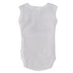 Smart Baby Organic Cotton Unisex Sleeveless Bodysuit , White - TIGBS1OCW/NB