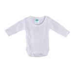 Smart Baby Organic Cotton Unisex Full Sleeve Bodysuit , White - TIGBS3OCW/NB
