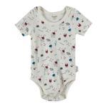 Chiquitos Baby Boys Bodysuit , White - BAGCB204