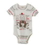 Chiquitos Baby Boys Bodysuit , Cream - BAGCB304