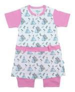 Disney Baby Cinderella Baby Girls Shortleg Bodysuit,White/Pink-NCGDBIBCP14E