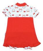 Disney Baby Minnie Baby Girls Shortleg Bodysuit, White/Red-NCGDBIBCP11E