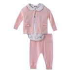 Rock a Bye Baby Baby Girl 3pc Set , Pink - JCGS19193