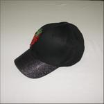 Le Crystal Girls Denim Baseball Cap,Black,FMGNY8BK