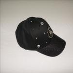 Le Crystal Girls Denim Baseball Cap,Black,FMGNY9BK