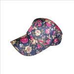 Le Crystal Girls Printed Adjustable Baseball Cap,Blue, FMGLL11BL
