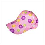 Le Crystal Girls Printed Adjustable Baseball Cap,Pink-FMGLL12P