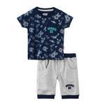 Smart Baby Baby Boy T-Shirt With Capri Set,Navy/Light Melange - SNGS2035088