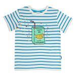 Genius Boys T-shirt With Capri Set , Stripe/Aqua Blue - HDGLSS21B2318
