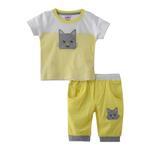 Smart Baby Baby Boy T-Shirt With Capri Set,Lemon/Yellow - SNGS2035058