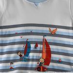 Smart Baby Baby Boy T-shirt With Capri Set,White/Sky blue,SNGS2035059