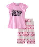 Genius Girls T-shirt With Capri Set , Pink - SNGSS2137491