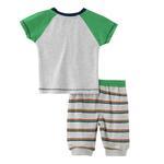Smart Baby Baby Boy T-Shirt With Capri Set,Cream Melange - SNGS2035014