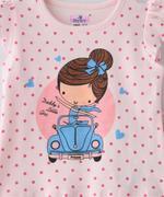 Smart Baby Baby Girls T-Shirt With Capri Set,Light Peach/Hot Pink - SNGSS2137536