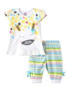 Smart Baby Baby Girls T-shirt With Capri Set , Multi - SNGSS2137554