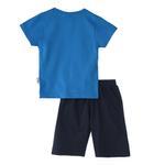 Genius Boys T-Shirt With Capri Set,Sky Blue/Navy,SNGS2034832