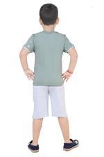 Genius Boys T-Shirt With Capri Set,Sage green/ Grey,SNGS2034652
