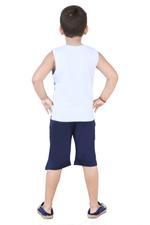 Genius Boys T-Shirt With Capri Set,Navy/Grey,SNGS2034654